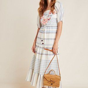 Anthropologie Pankaj & Nidhi Striped Midi Dress